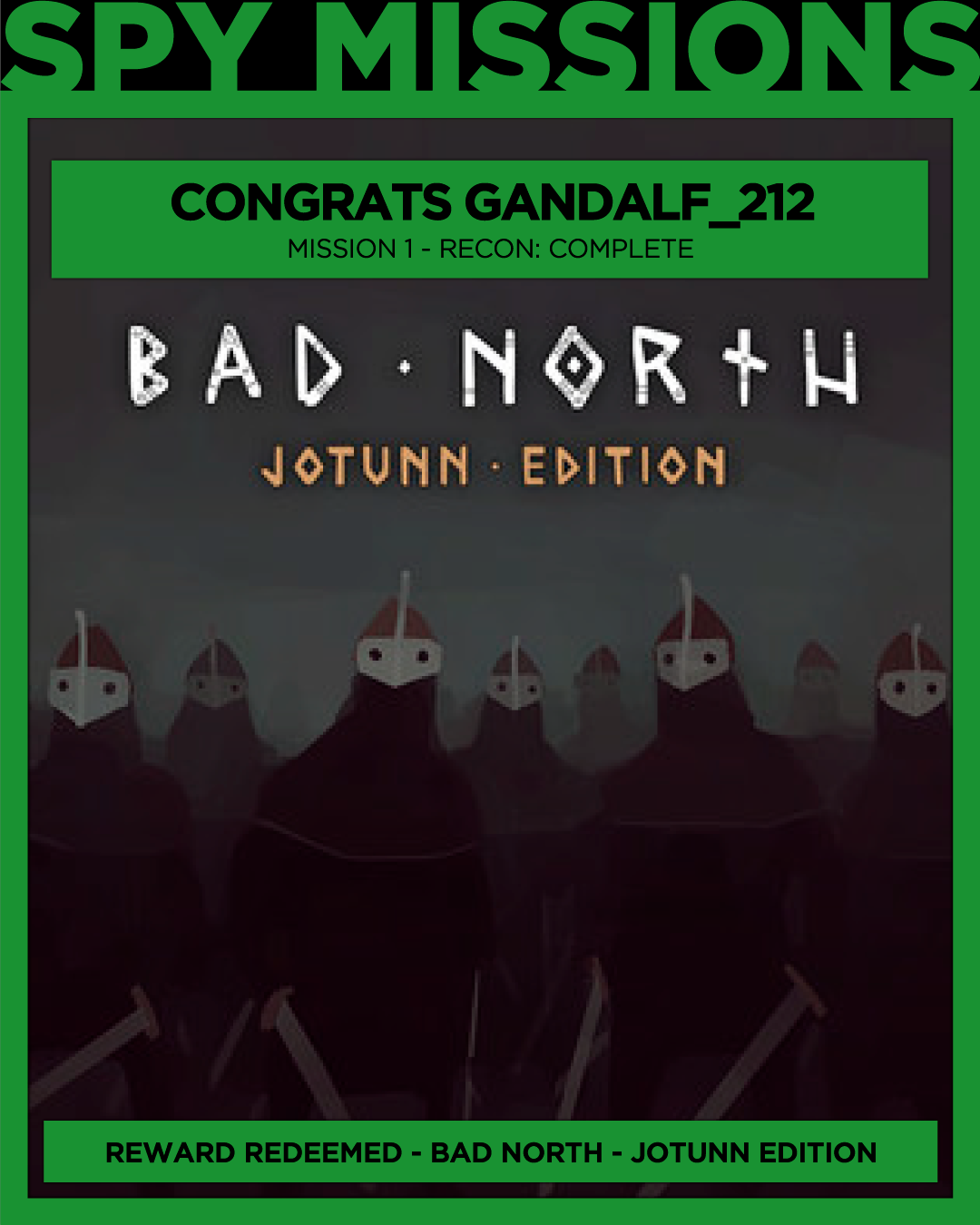 Free Game Won Bad North: Jotunn Edition