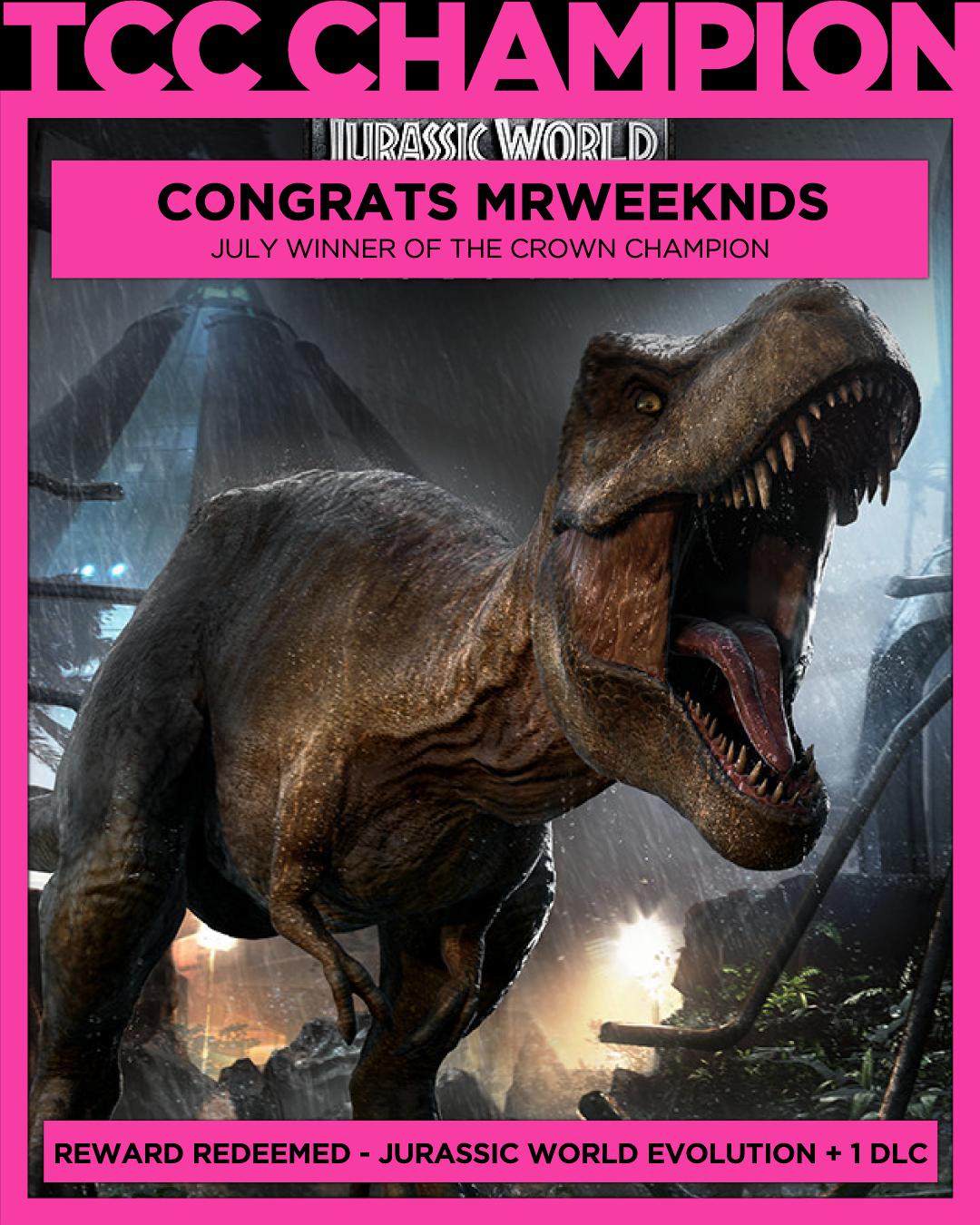 Free Game Won Jurassic World Evolution