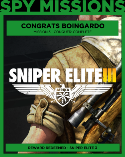 Free Game Won Sniper Elite 3