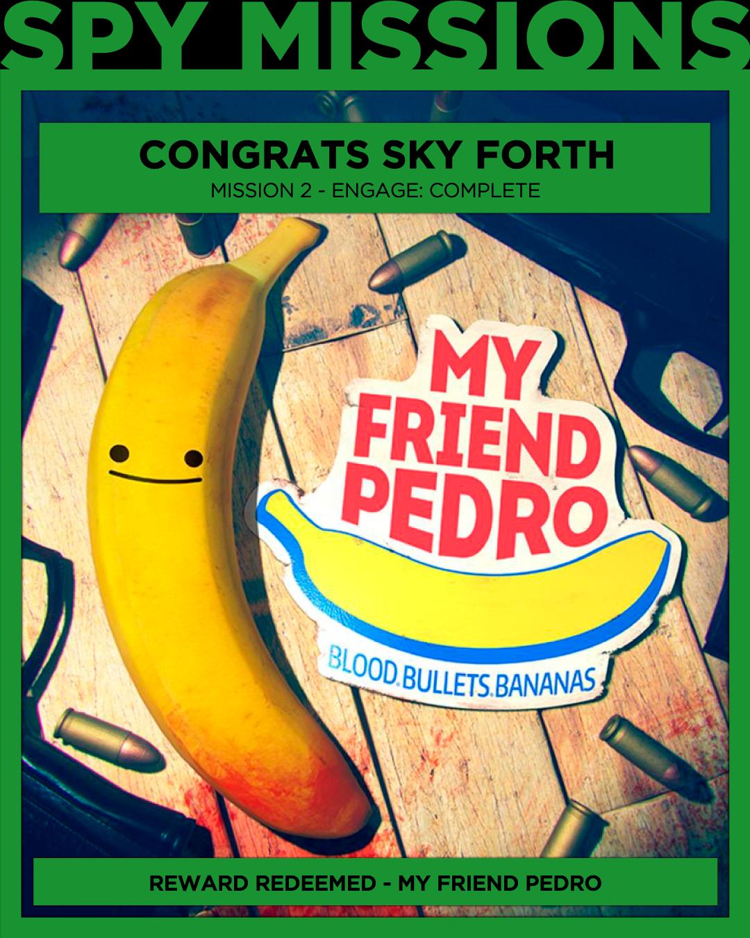 Free Game Won My Friend Pedro