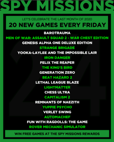 20 new Games for Giveaway Week II