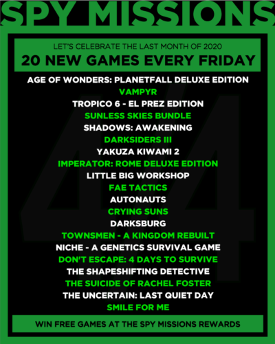 20 new Games for Giveaway Week IV